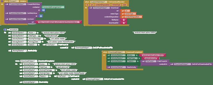blocks 3 (solicita aplicacion y luego da error)