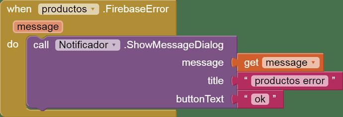 when Firebase error