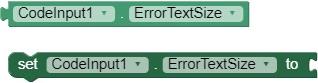 ErrorTextSize