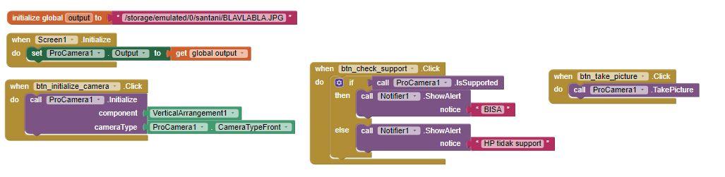 code block pro camera